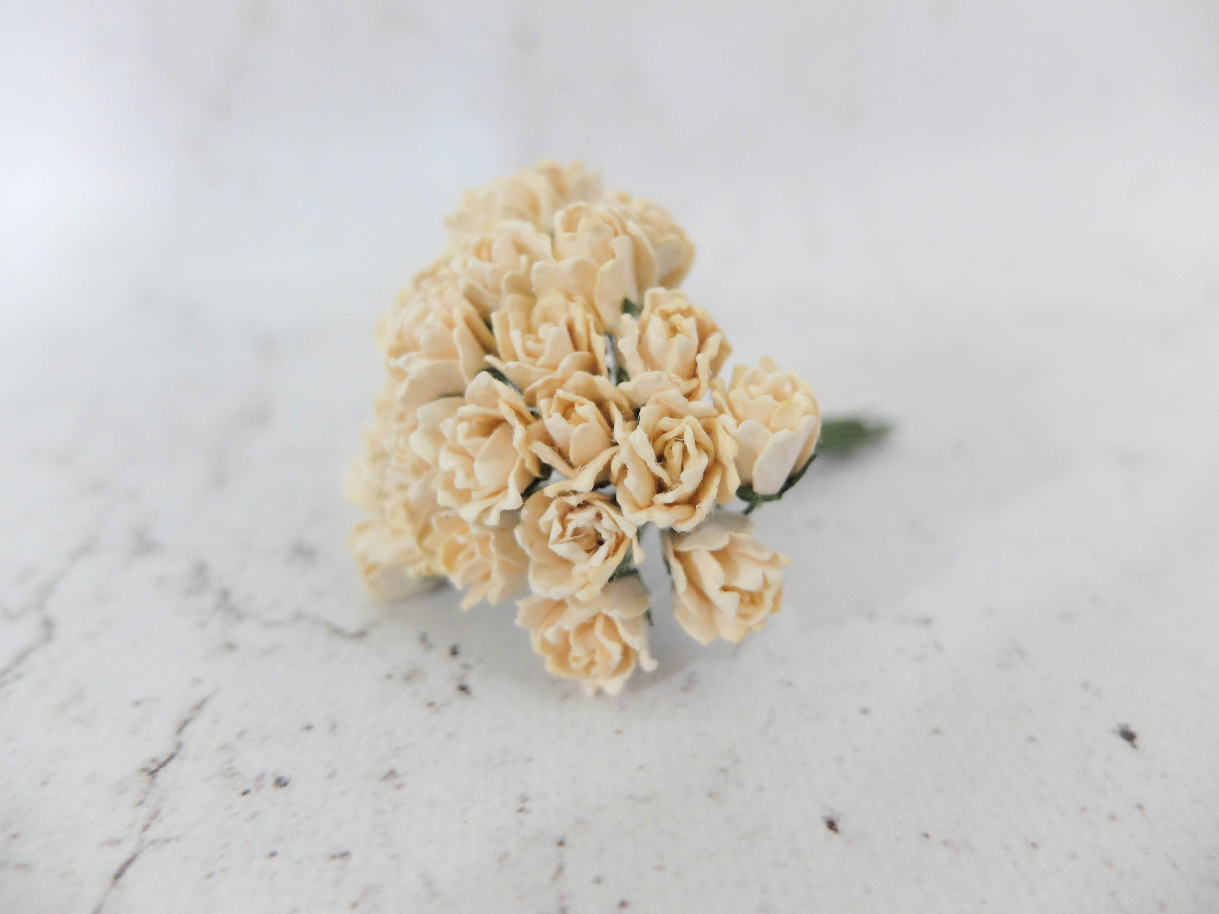 10mm Paper Flower Buds 50 Pcs Mulberry Paper Flower With Wire