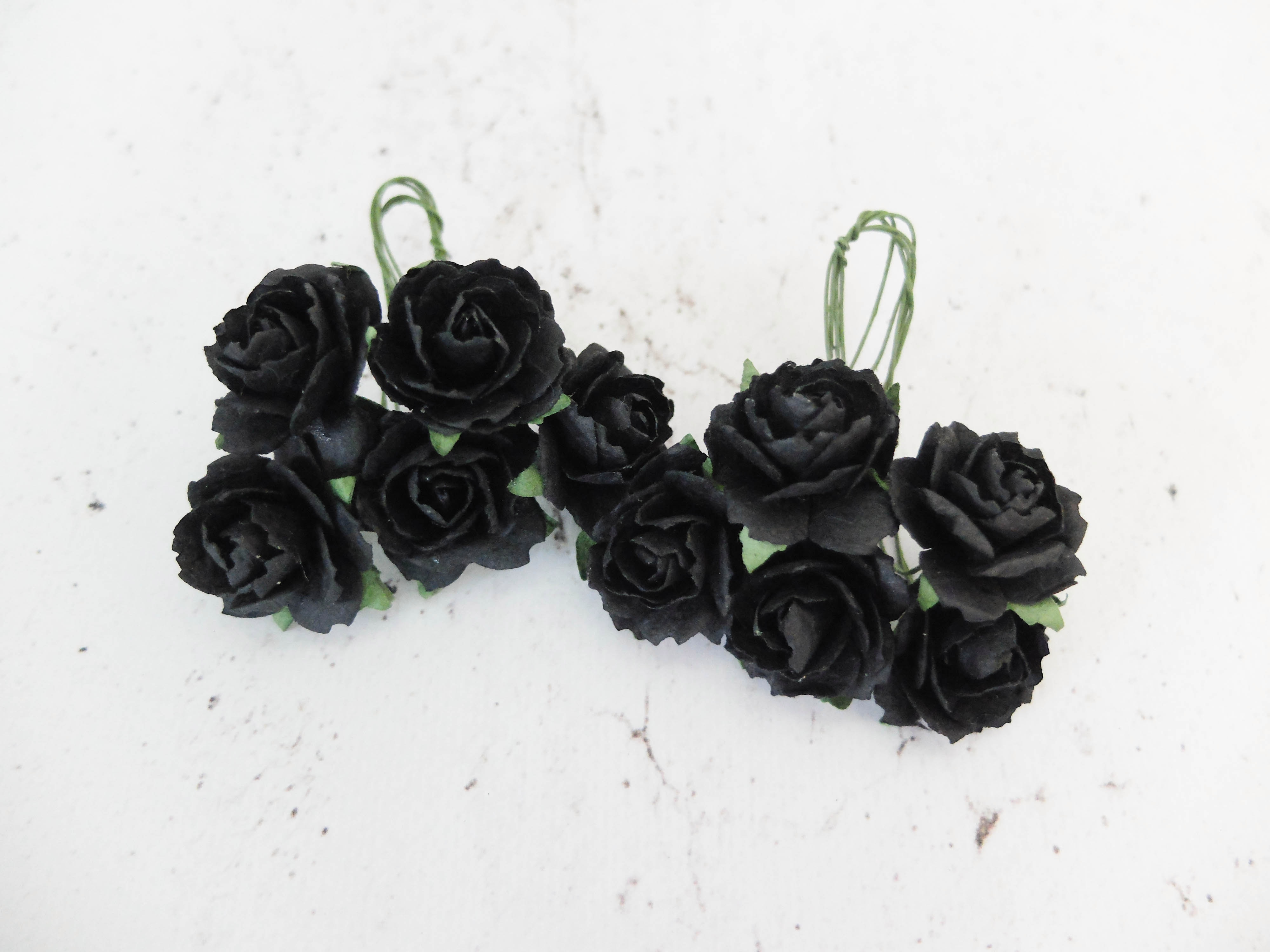 1 Inch Paper Peonies 25 Cm Mulberry Paper Flowers With Wire Stems