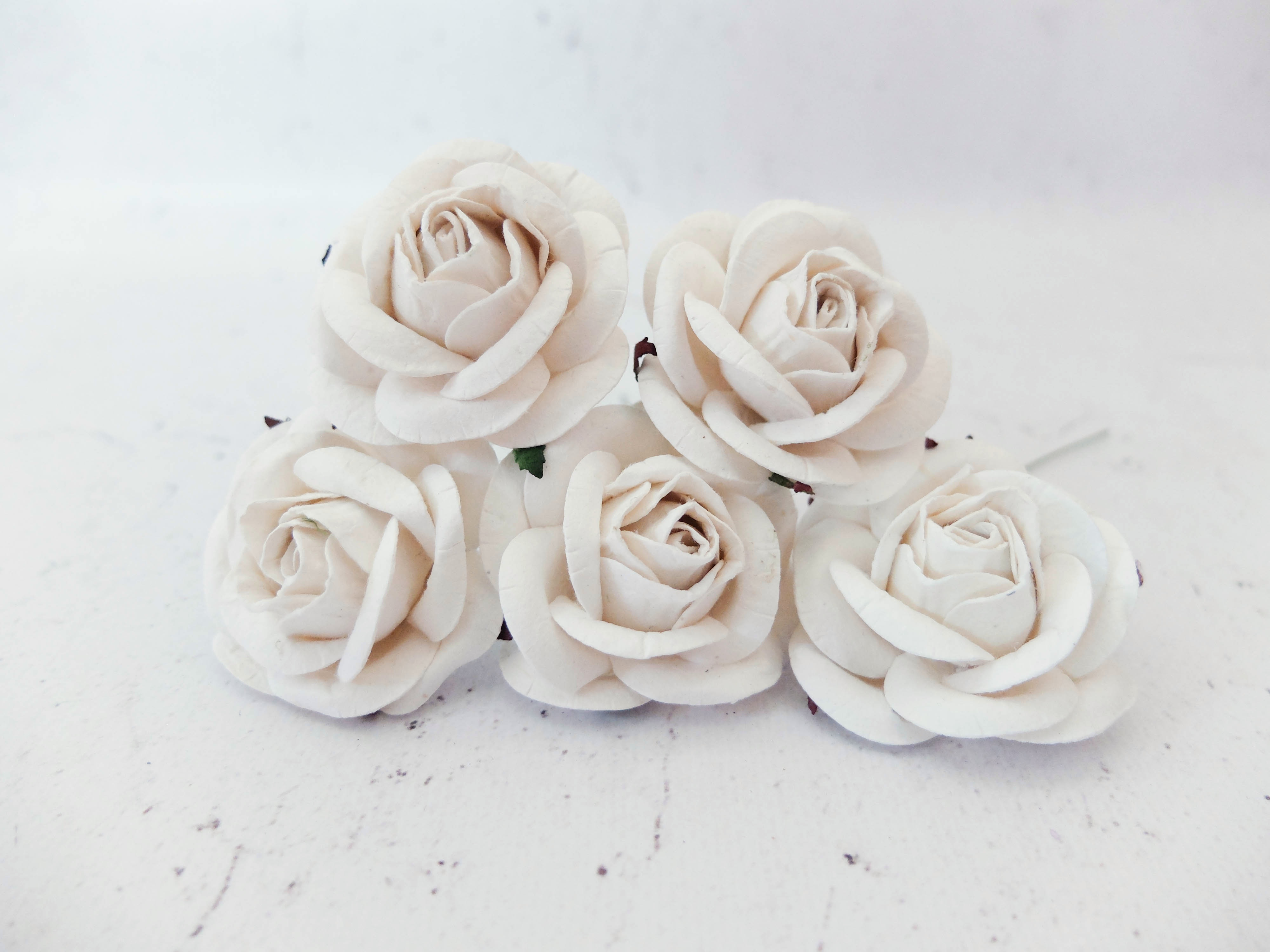 2 Inches Paper Roses Mulberry Paper Flowers Wholesale Bulk