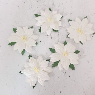 6 cm paper poinsettia white flat christmas flowers embellishments youre viewing 6 cm white paper poinsettias 25 pc 60mm mulberry paper flat christmas flowers embellishments no wire stems 700 mightylinksfo