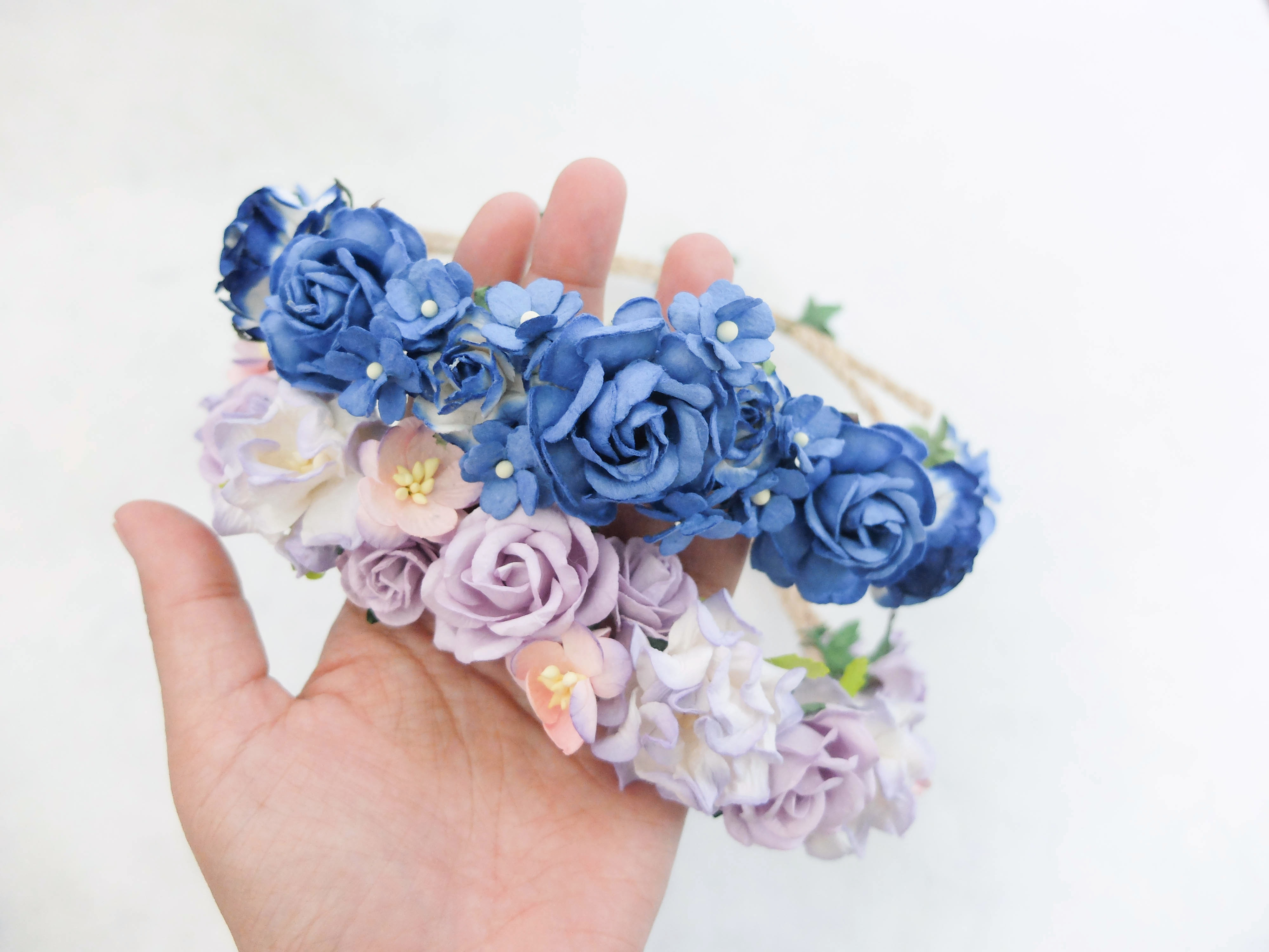 New Flower Head Wreaths Dailypaperflowers Shop Mulberry Paper
