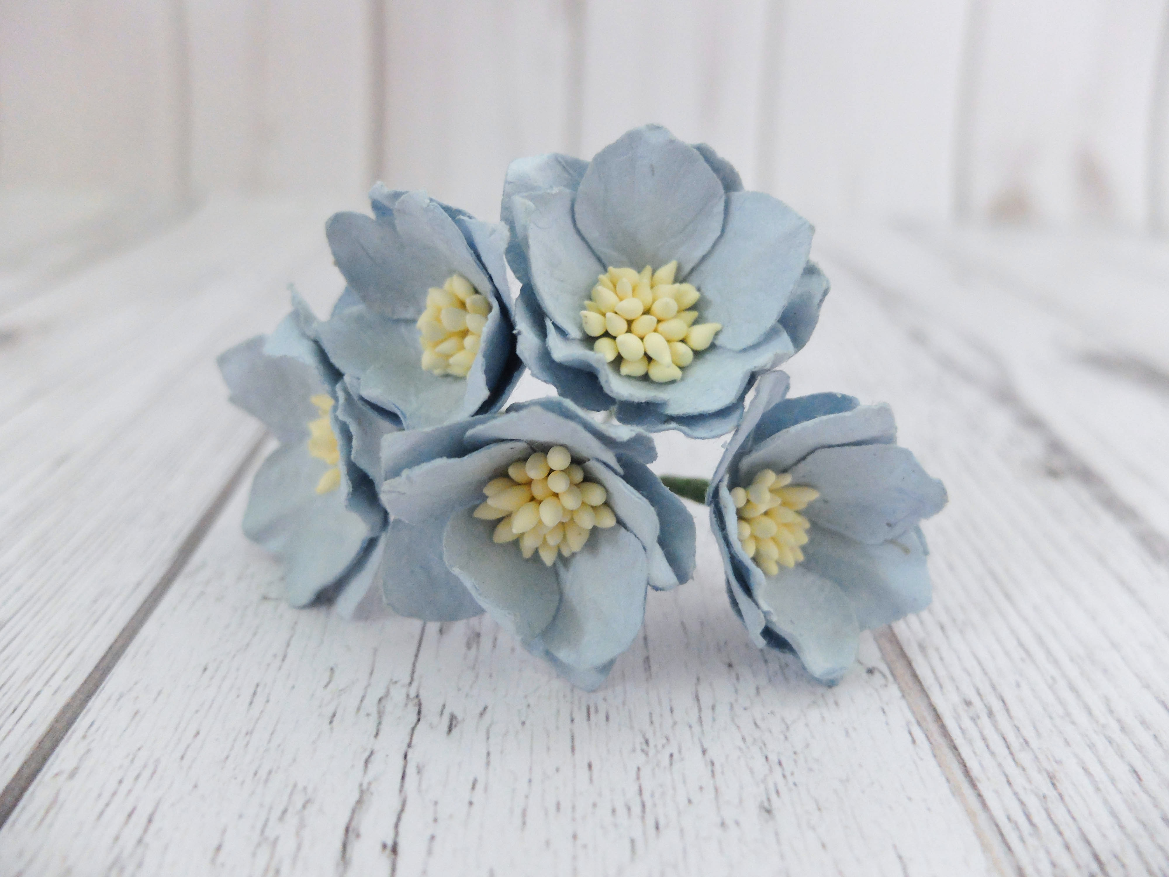 4 Cm Paper Water Lilies Mulberry Paper Flowers Wholesale