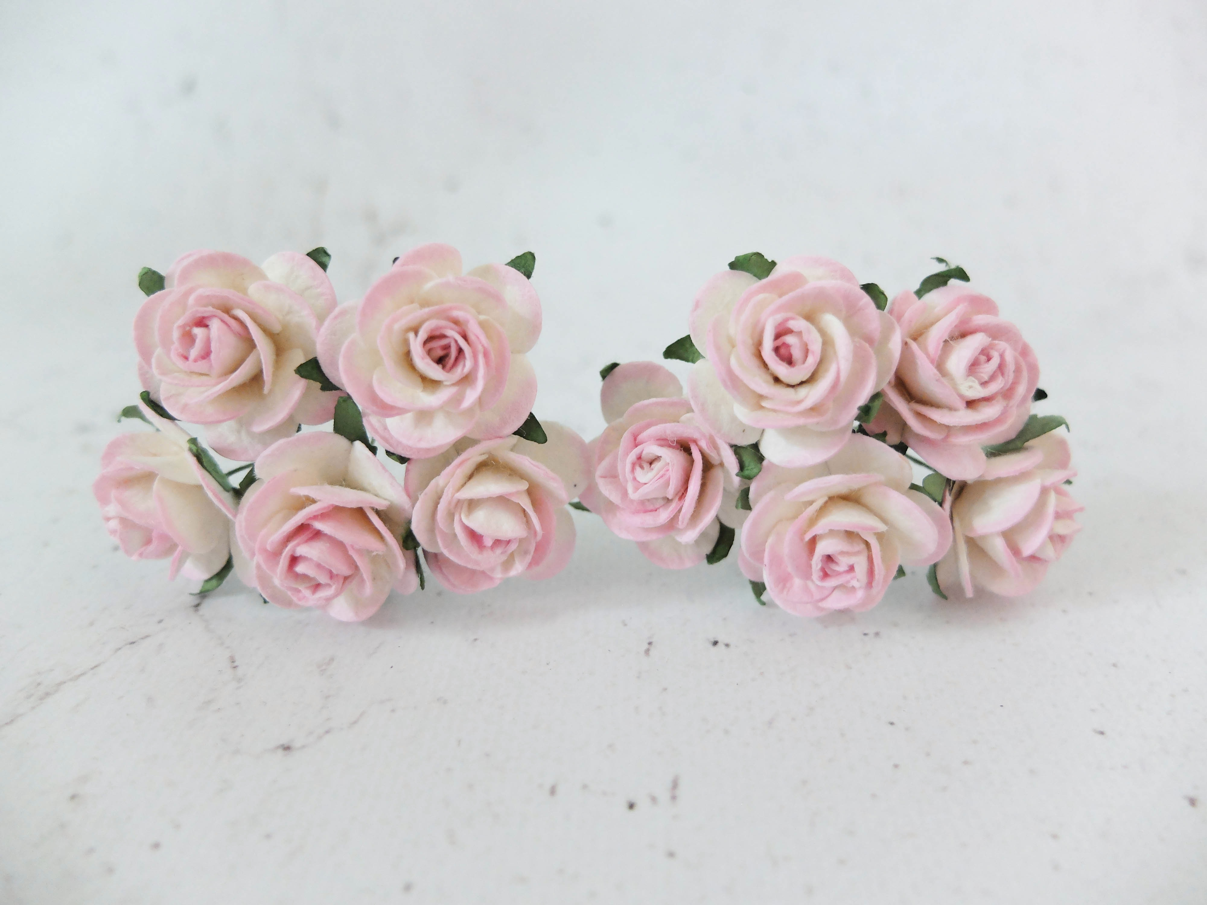 1 Inch Mulberry Paper Roses Wholesale 50 Pcspack 25mm Paper Roses