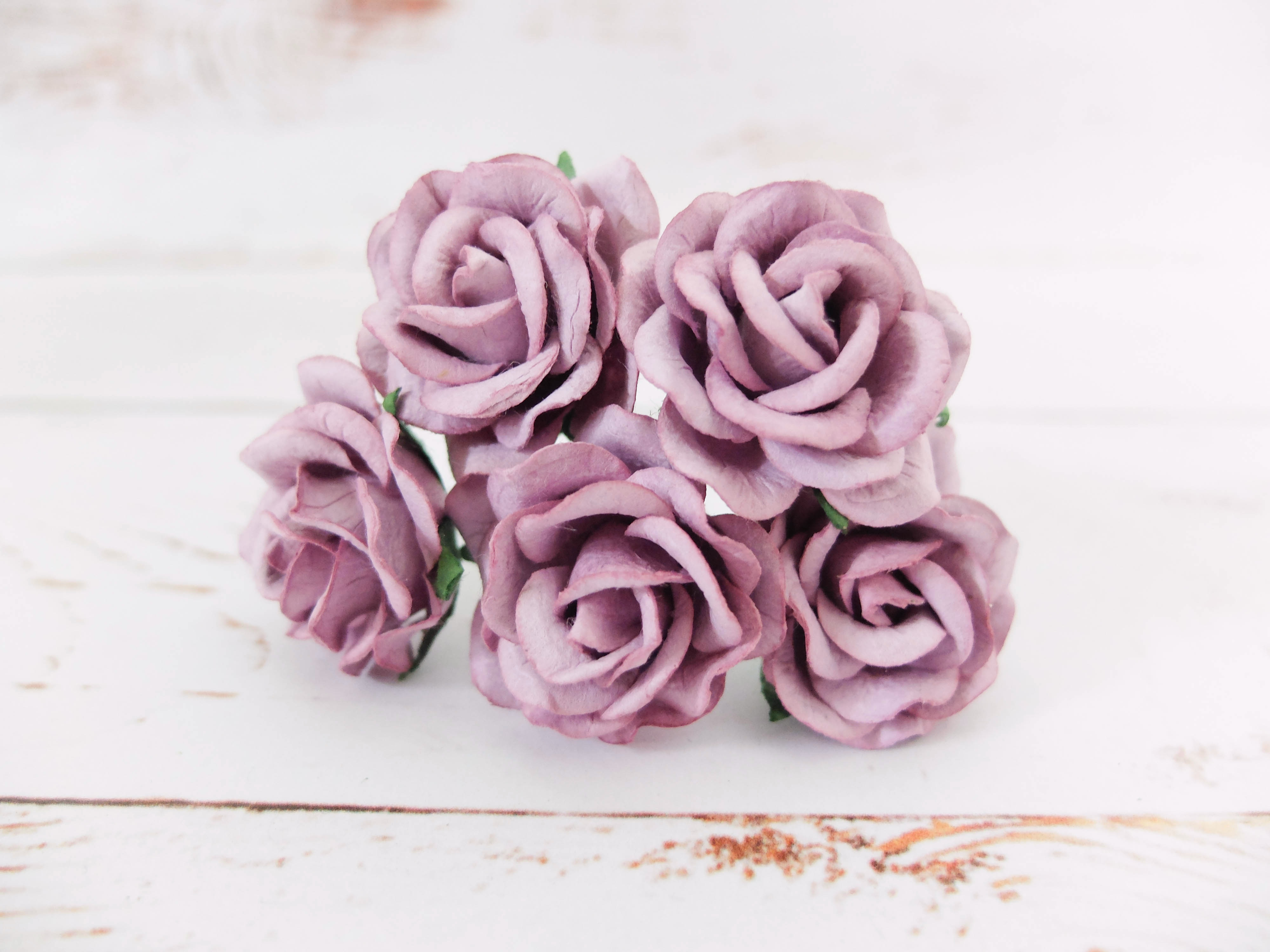 3 5 Cm Mulberry Paper Roses Flowers Wholesale From Thailand