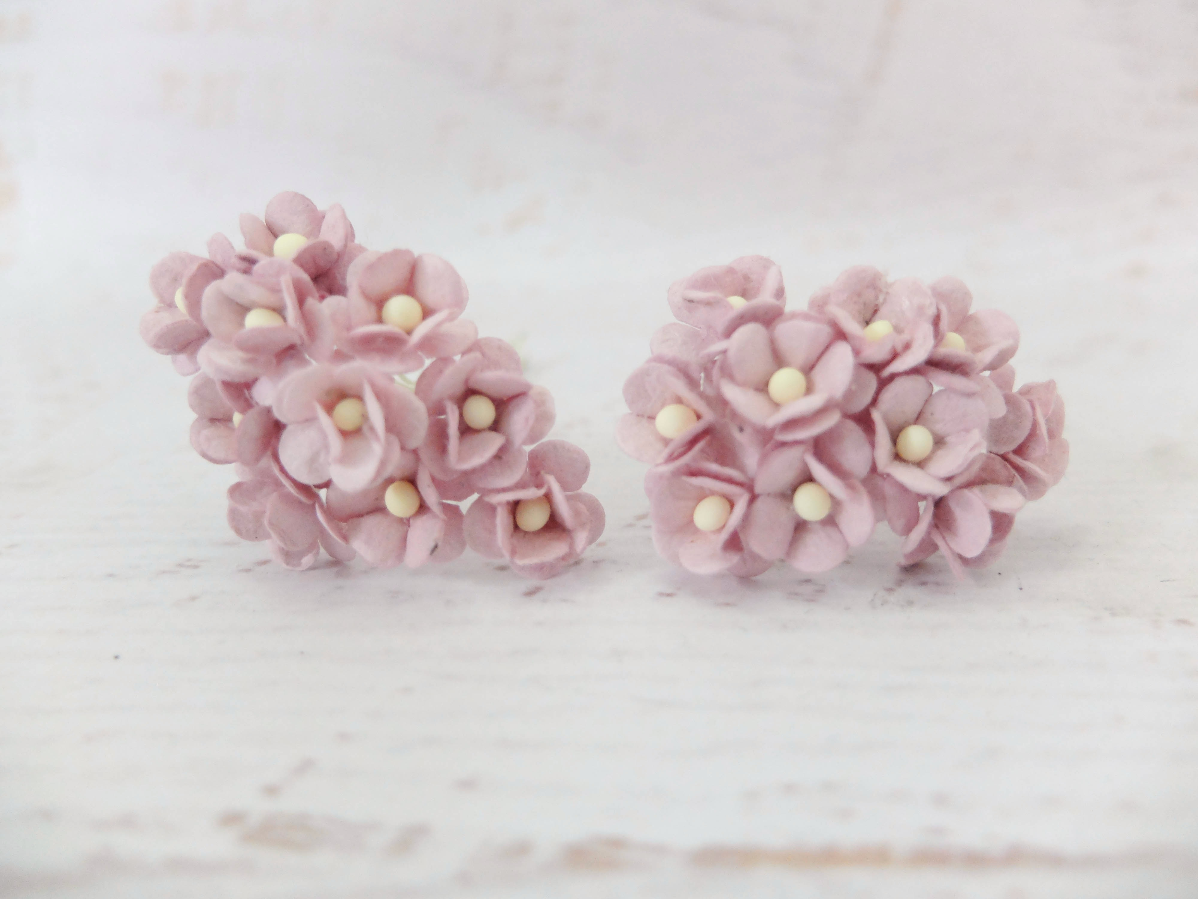 15mm Double Layers Paper Daisies 100 Pcs Mulberry Paper Flowers