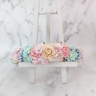 Pastel green pink ivory flower crown hair wreath headpiece youre viewing pastel flower crown ivory lilac pink mint blue wedding headpiece hair wreath 1400 mightylinksfo