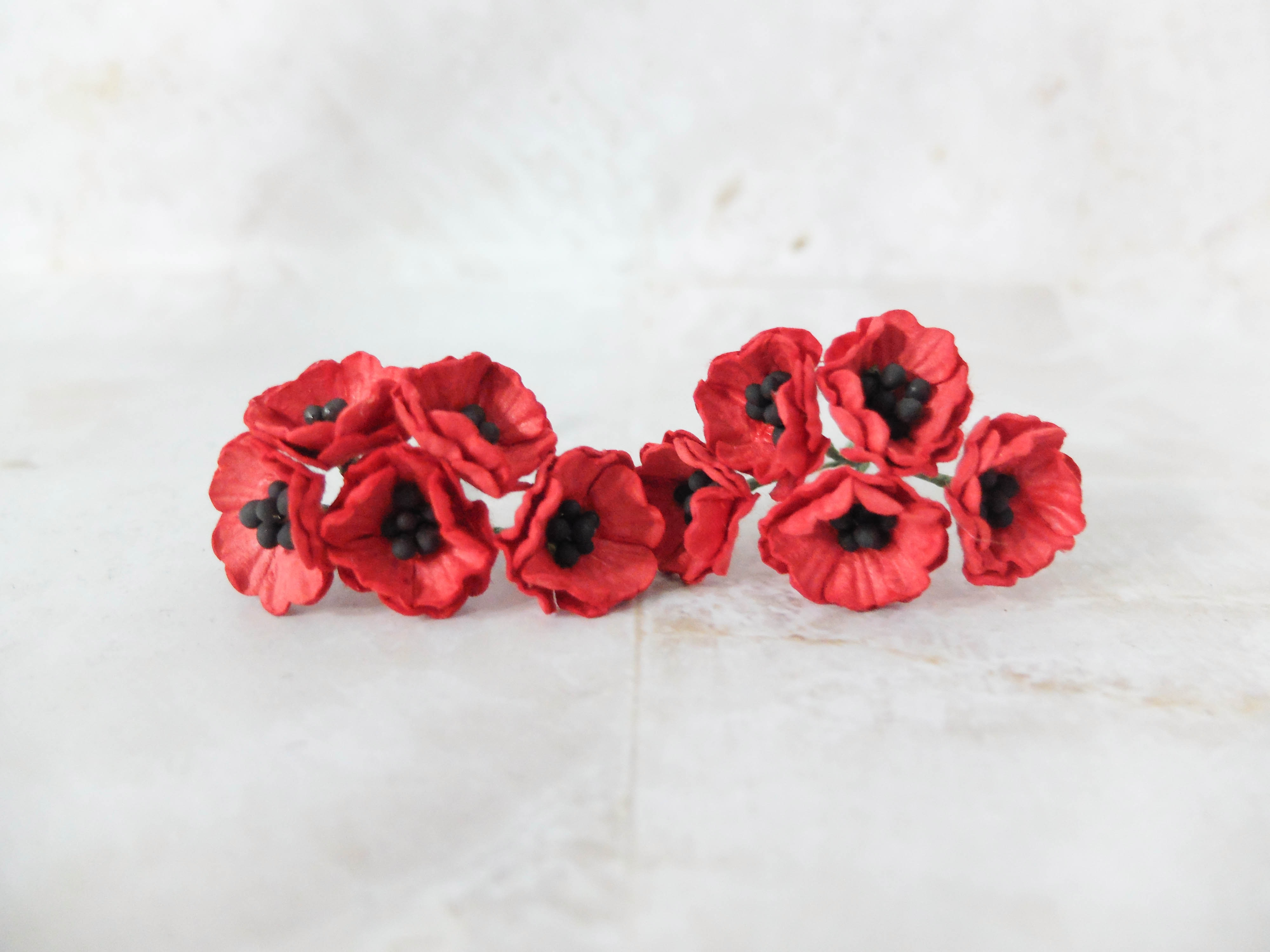 2 Cm Paper Poppies Mulberry Paper Flowers Wholesale